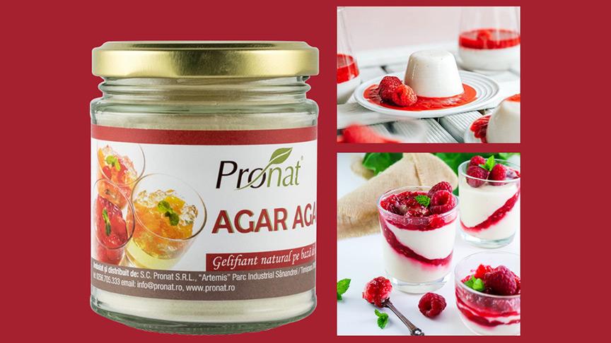 Agar-Agar de la Pronat: alternativa sănătoasă la gelatină
