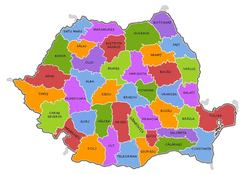 Harta Romania judete